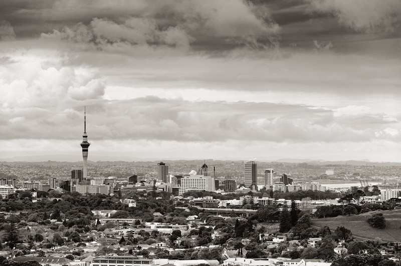 auckland city black and white landscape imagery david st george photography
