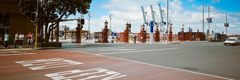 auckland city waterfront panorama image documentary david st george photography