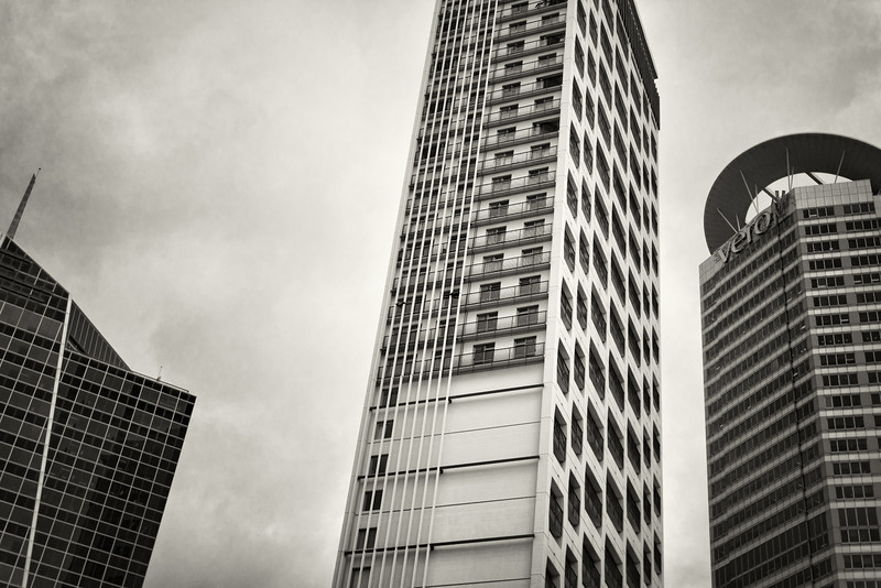 auckland city black and white landscape buildings david st george photography